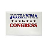 JOHANNA for congress Rectangle Magnet