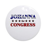 JOHANNA for congress Ornament (Round)