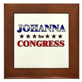 JOHANNA for congress Framed Tile