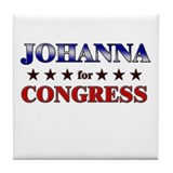 JOHANNA for congress Tile Coaster