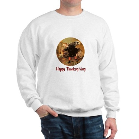 Boy and Thanksgiving Turkey Sweatshirt
