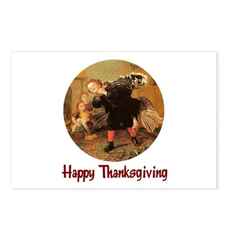 Boy and Thanksgiving Turkey Postcards (Package of