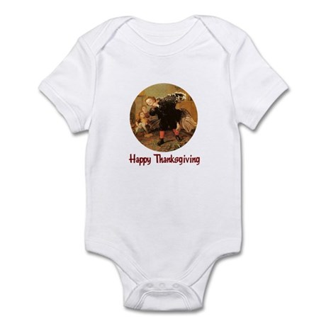 Boy and Thanksgiving Turkey Infant Bodysuit