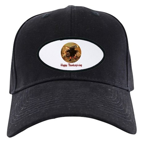 Boy and Thanksgiving Turkey Black Cap