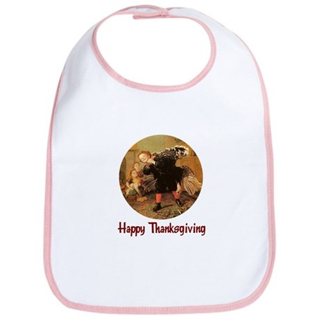 Boy and Thanksgiving Turkey Bib
