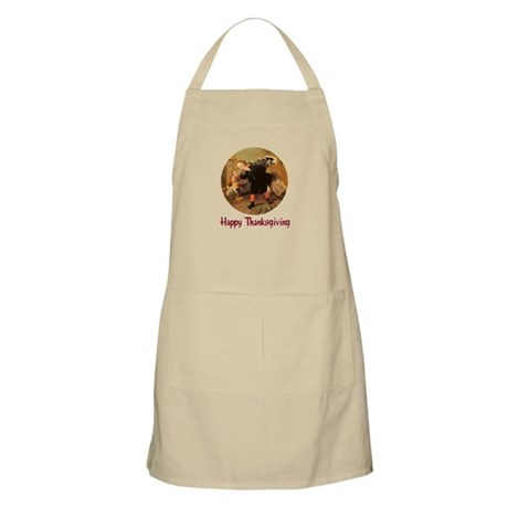 Boy and Thanksgiving Turkey BBQ Apron