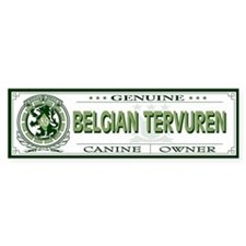 BELGIAN TERVUREN Bumper Car Sticker