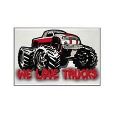 We Love Trucks Rectangle Magnet (10 pack)