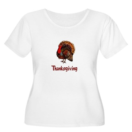 Thanksgiving Turkey Women's Plus Size Scoop Neck T