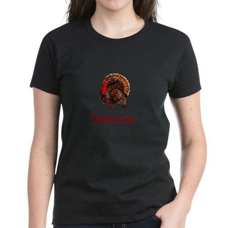 Thanksgiving Turkey Women's Dark T-Shirt