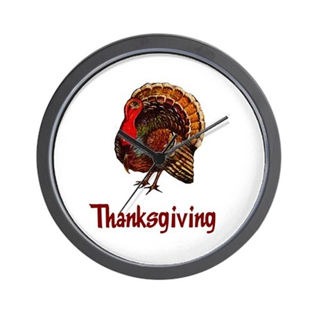 Thanksgiving Turkey Wall Clock