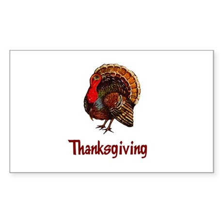 Thanksgiving Turkey Rectangle Sticker