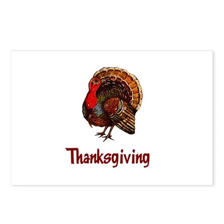 Thanksgiving Turkey Postcards (Package of 8)