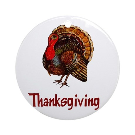Thanksgiving Turkey Ornament (Round)