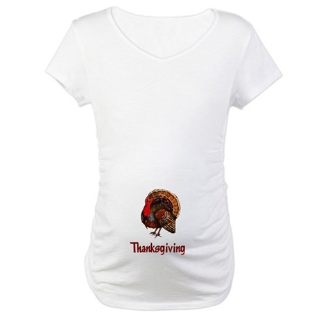 Thanksgiving Turkey Maternity T-Shirt