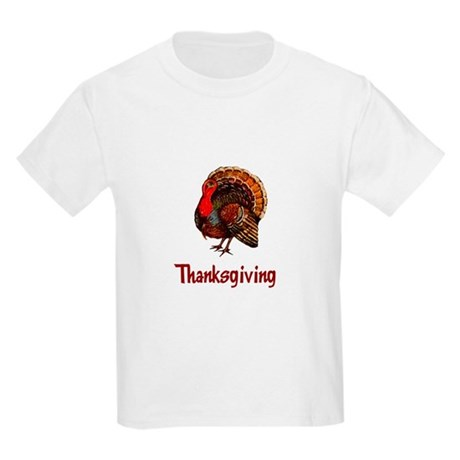 Thanksgiving Turkey Kids Light T-Shirt