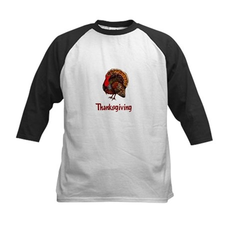 Thanksgiving Turkey Kids Baseball Jersey