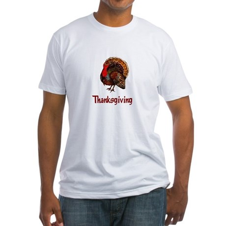 Thanksgiving Turkey Fitted T-Shirt