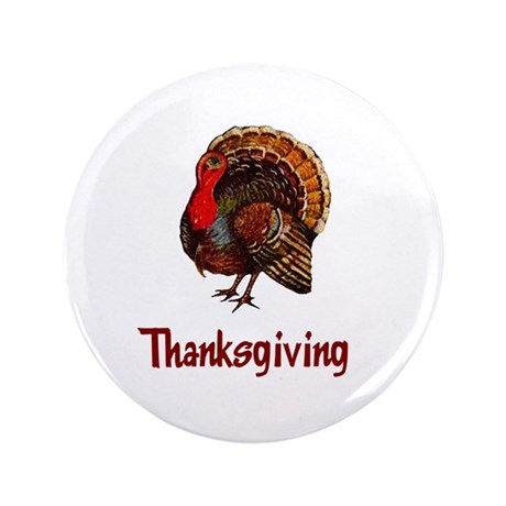 "Thanksgiving Turkey 3.5"" Button (100 pack)"