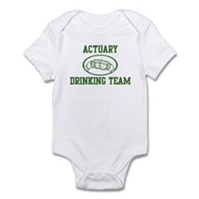 Actuary Drinking Team Infant Bodysuit