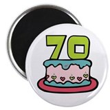 70th Birthday Cake Magnet