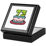 73 Birthday Cake Keepsake Box