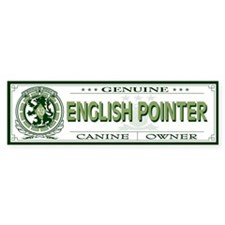 ENGLISH POINTER Bumper Bumper Sticker