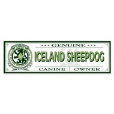 ICELAND SHEEPDOG Bumper Bumper Sticker