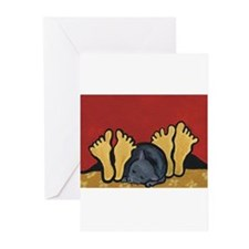 Sleeping Cat with Couple Greeting Cards (Pk of 20)