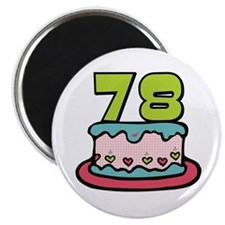 78th Birthday Cake Magnet