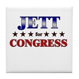 JETT for congress Tile Coaster
