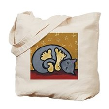 Cat with People Feet Tote Bag