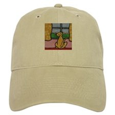 Yellow Lab at Window Baseball Cap