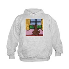 Chocolate Lab at Window Hoodie