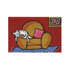 Napping Westie... Rectangle Magnet (100 pack)