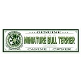 MINIATURE BULL TERRIER Bumper Car Sticker