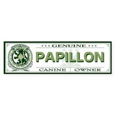 PAPILLON Bumper Bumper Sticker
