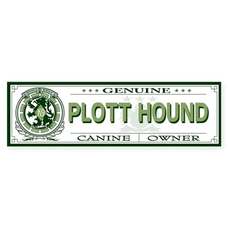 PLOTT HOUND Bumper Sticker