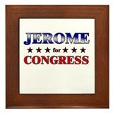 JEROME for congress Framed Tile