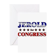 JEROLD for congress Greeting Card