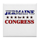 JERMAINE for congress Tile Coaster
