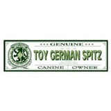 TOY GERMAN SPITZ Bumper Car Sticker