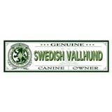 SWEDISH VALLHUND Bumper Car Sticker