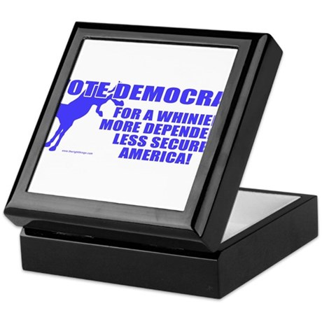 Vote Democrat Keepsake Box