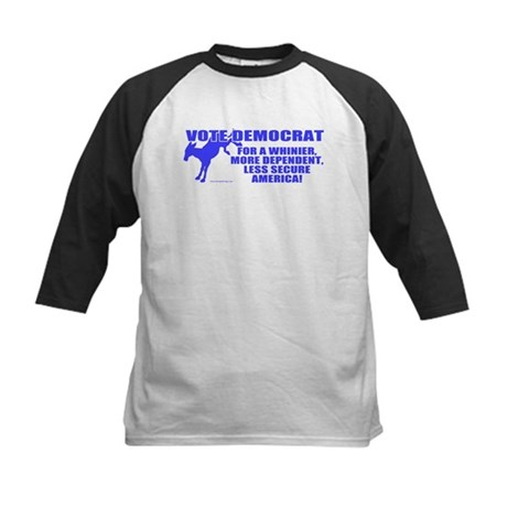Vote Democrat Kids Baseball Jersey