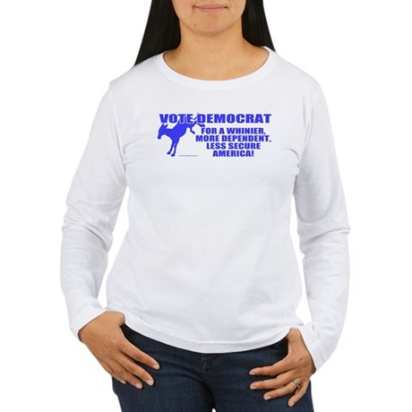 Vote Democrat Women's Long Sleeve T-Shirt