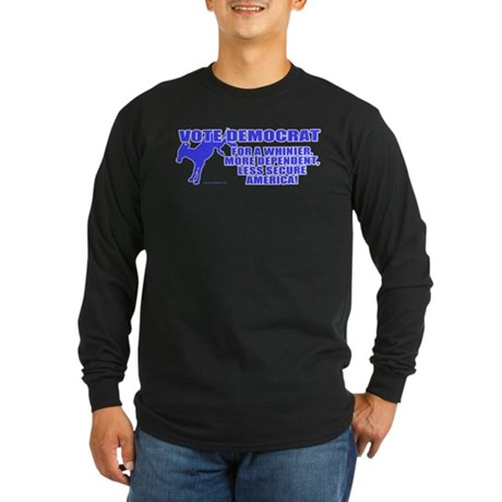 Vote Democrat Long Sleeve Dark T-Shirt