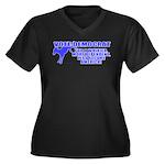 Vote Democrat Women's Plus Size V-Neck Dark T-Shir