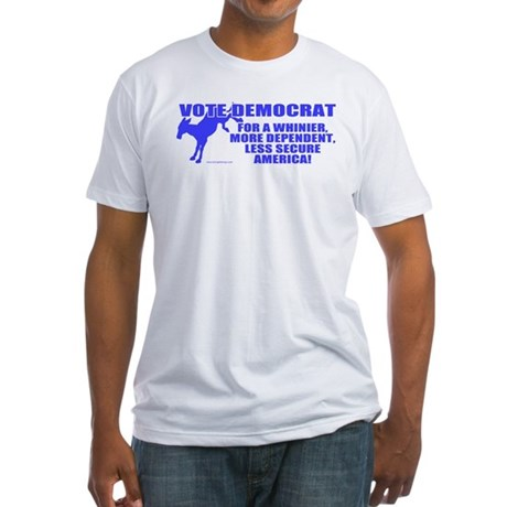 Vote Democrat Fitted T-Shirt