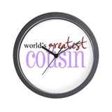 World's Greatest Cousin Wall Clock